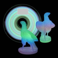 Adaptway PLA Glow in the Dark Filament, 1.75 mm, 1kg, rainbow