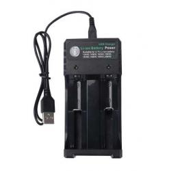 Lithium Ionen Akku Ladegerät USB, zweifach